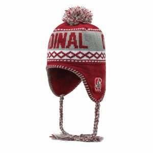 6cb1ab2d8cc OTS NCAA Stanford Cardinal Adult Unisex NCAA Abenaki Sherpa Knit Cap with  Pom
