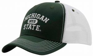 separation shoes 168ae 63571 Ouray Sportswear NCAA Michigan State Spartans Sideline Cap, Adjustable, Dark  Hunter White