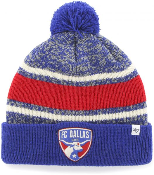 83728e09dca77 ... sweden mls fc dallas 47 fairfax cuff knit hat with pom one size fits  most royal