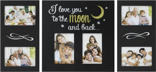 Melannco 3 Piece I Love You To The Moon Back Plastic Collage Frame