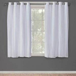 0393fcddf9f9 Exclusive Home Curtains Catarina Layered Solid Blackout and Sheer Window  Curtain Panel Pair with Grommet Top