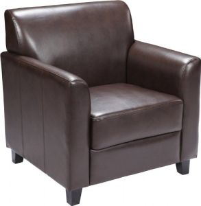 Pleasing Flash Furniture Hercules Diplomat Series Brown Leather Chair Ncnpc Chair Design For Home Ncnpcorg