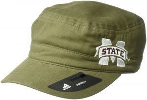 the latest 17bdd 687df adidas NCAA Mississippi State Bulldogs Adult Women Army Green Military Hat, One  Size, Olive