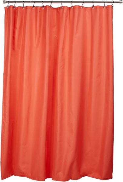 Ex Cell Pierce Fabric Microfiber Shower Curtain Liner 70 By 72 Inch Salmon