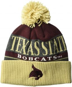 9e5c9a74131 adidas NCAA Texas State Bobcats Adult Men Heathered Grey Cuffed Pom Knit