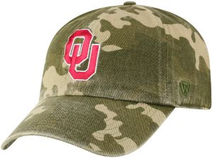 new arrival 3e801 d5d6f Top of the World NCAA Oklahoma Sooners Men s Adjustable Relaxed Fit Camo  Icon Hat, Camo