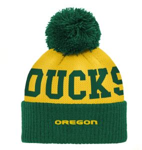 5d4ebeb1d3bd2 قبعة أطفال NCAA Oregon Ducks من قماش الجاكار مكشكش بأساور، مقاس واحد للرضع،  أخضر داكن