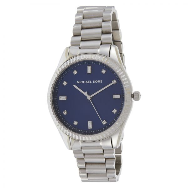 758a30ad2c02 Michael Kors Women s Navy Blue Dial Stainless Steel Band Watch - MK3225