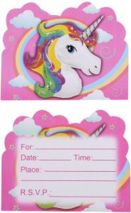 Unicorn Children Birthday Invitation Card Decorations For Baby Party 10pcs Bag