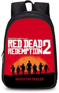 569051580a0 America games Red Dead Redemption 2 backpack kindergarten primary zipper  school double-layer bag cool rucksack(27*14*35cm)
