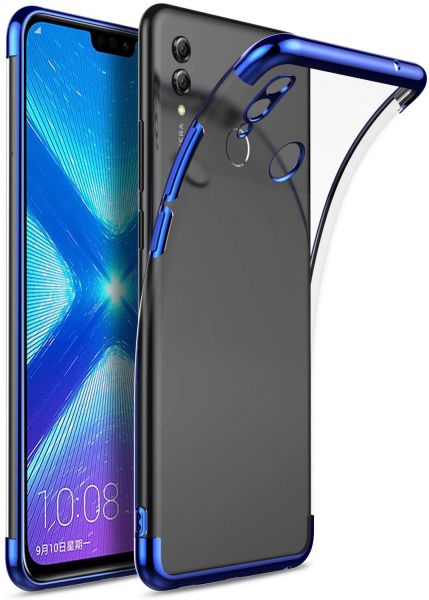 the latest b57ba 460d7 Huawei Honor 8X Max case Shock Scratch Absorption Protection Ultra Thin  Flexible Rubber Soft TPU Bumper cover (Blue)