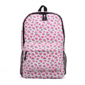 Watermelon Canvas Backpack Girls School Bag Women Casual Leisure Travel Bag  colorful Printing cdfd56c191