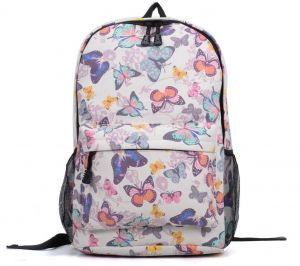 5af118ab9d Butterfly Canvas Backpack Girls School Bag Women Casual Leisure Travel Bag  colorful Printing