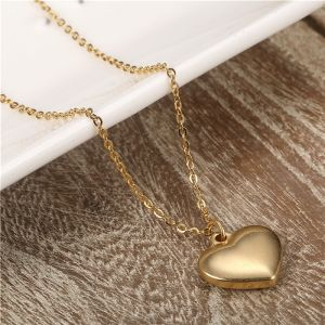 a3ee420dd9f89 Buy gold woman heart necklace   Swarovski Elements,Amazon Collection ...