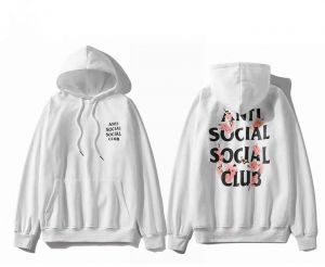 3a544131d310 Anti Social Social Club White Round Neck Hoodies For Unisex