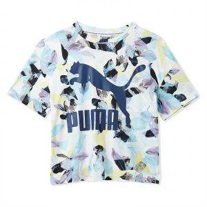 new arrival e7ed0 c6e78 Puma Prints Classic Logo T-Shirt for Women
