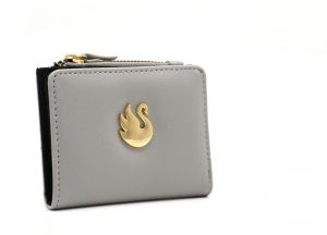 77a120c956b6 Grey Small Wallet Purse and Pouch with Swan for Girls and Women