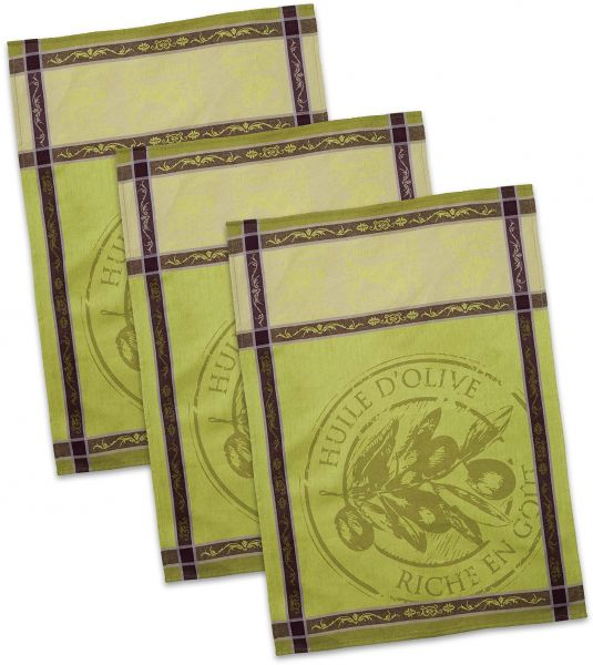 Dii Cotton French Jacquard Dish Towels 20x28 Set Of 3 Decorative
