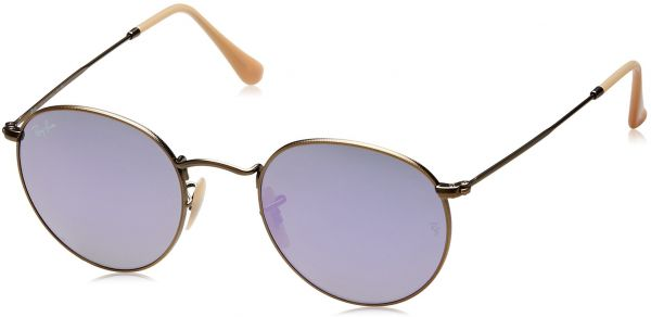 103c4e2799 ... Round Flash Lenses RB3447 167 4K Sunglasses Lilac Mirror 50mm. by Ray- Ban