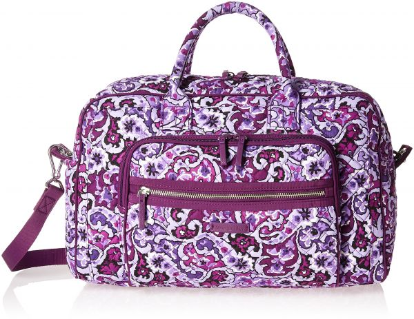 862a72ce668a Vera Bradley Women s Iconic Compact Weekender Travel Bag-Signature ...