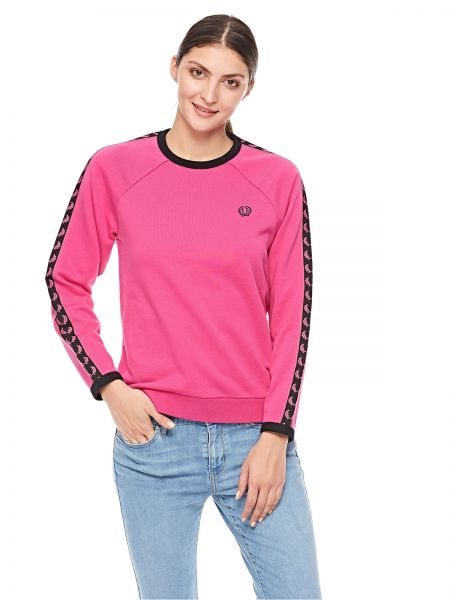 062a8704121 Fred Perry Taped Crew Neck Sweatshirt for Women - Bubblegum