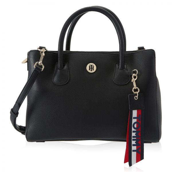 Tommy Hilfiger Bag For Women Black Satchels Bags