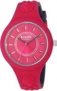Versus by Versace Women s  FIRE Island Bicolor  Quartz Stainless Steel and  Silicone Watch 6ed60dda7
