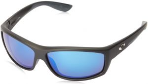 dd877cc2094 Costa del Mar Unisex-Adult Saltbreak BK 11 OBMGLP Polarized Iridium Wrap  Sunglasses