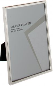 Viceni Silver Plated Thin Edge Photo Frame 8 By 10 Inch