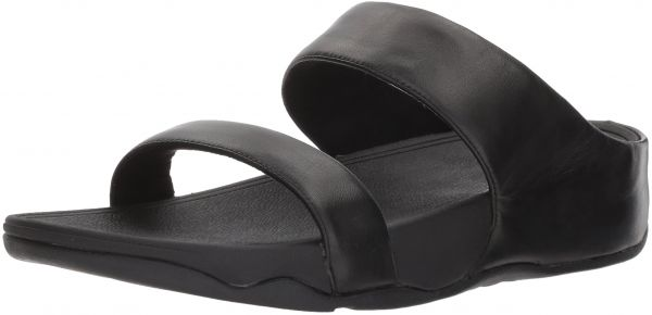 b3ce283c41b937 FitFlop Women s Lulu Leather Slide Sandal