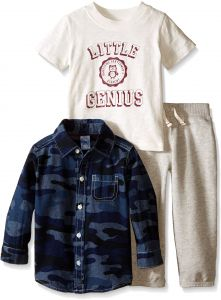 1573f5754 Carter's Baby Boys' 3 Piece Print Top Set (Baby) - Little Genius - 6 Months