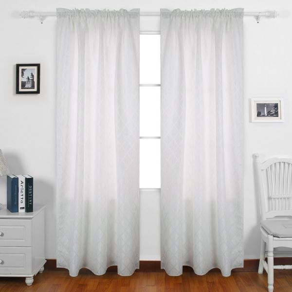 Deconovo Meridian Rod Pocket Curtains Insulated Curtains Jacquard