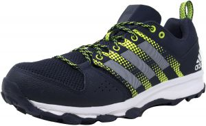 size 40 dca2b a5e41 Adidas Mens Galaxy Trail Collegiate Navy  White Solar Yellow Ankle-High  Running Shoe - 8M
