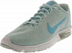 3d4ee3fae7f10 Nike Women s Air Max Sequent 2 Pure Platinum   Polarized Blue Ankle-High  Running Shoe - 7.5M