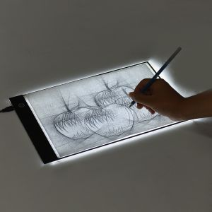 ... Tracing Light Pad with Seperate Scaled Panel Holder Clamp Stepless Dimness USB Cable for Tatoo Diamond Painting Drawing Sketching Animation