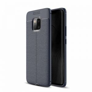 Huawei Mate 20 Pro protective cover case rubber with Leather texture