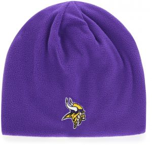 info for 2e94c e3011 OTS NFL Minnesota Vikings Adult Unisex NFL Trenton Beanie Knit Cap, One  Size, Purple