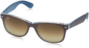19f1d1c6a5 Ray-Ban NEW WAYFARER - TOP MT CHOCOLATE ON BLUE Frame LIGHT BROWN GRAD DARK  BROWN Lenses 55mm Non-Polarized