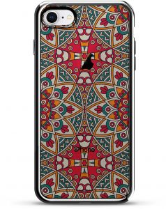 d7fb85f22d6 Luxendary Red & Blue Boho Style Pattern Design Chrome Series Case For IPhone  8/7 - Chrome/Silver