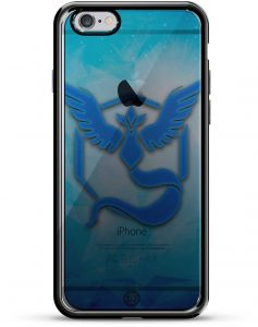 4877d8df916 Luxendary Pokemon Go Inspired Mystic Blue Design Chrome Series Case for iPhone  6/6S Plus - Titanium Black