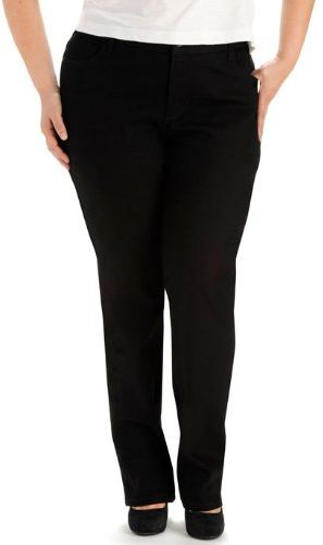 3cb3172c67a LEE Women s Plus Size Instantly Slims Classic Relaxed Fit Monroe Straight  Leg Jean