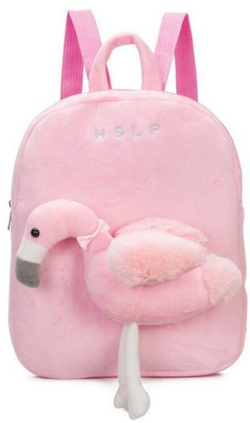 cd79a593a507 Kids Toddler Plush Backpack 3D Cartoon Flamingo Stuffed Animal Toy Early  Learning Kindergarten Preschool Bookbag Nursery Shoulder Bags Snack Travel  Bag for ...