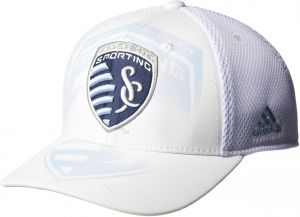 f417a982e29 adidas MLS Sporting Kansas City Adult Men MLS SP17 Fan Wear White Out  Structured Adjustable Cap