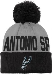 detailed look 5e557 2e505 Outerstuff NBA San Antonio Spurs Children Boys Cuffed Knit with Pom Hat, 1  Size, Flat Silver