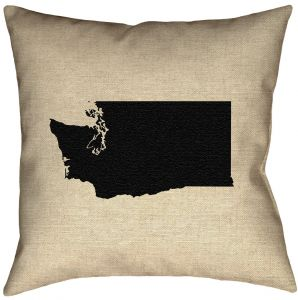 ArtVerse Katelyn Smith 16 x 16 Poly Twill Double Sided Print with Concealed Zipper /& Insert New Mexico Outline Pillow