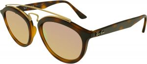fe503fbf11 Ray-Ban Women s Mirrored RB4257-60922Y-53 Brown Round Sunglasses