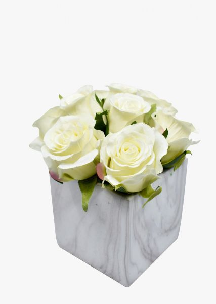 Artificial Flowers White Rose Flower Wedding Flower Party Flowers