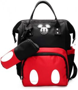 a7b78d6163ba Mickey Backpack Multi Function Large-capacity Mummy Bag Pregnant Women Out  Travel Backpack Maternal and Child Package Unisex Out Baby Diaper Tote Bag