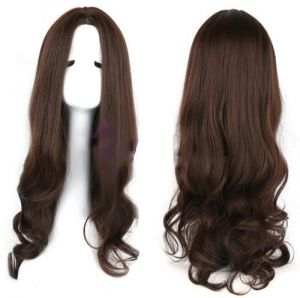 Buy Womens Girl Long Dark Brown Straight Hair Full Wig Halloween