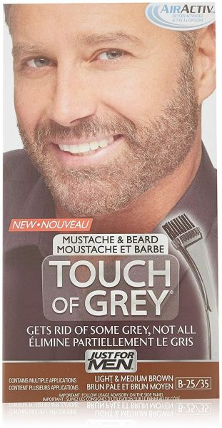 Just for Men Touch of Gray Brush-In Mustache & Beard Color Kit ...